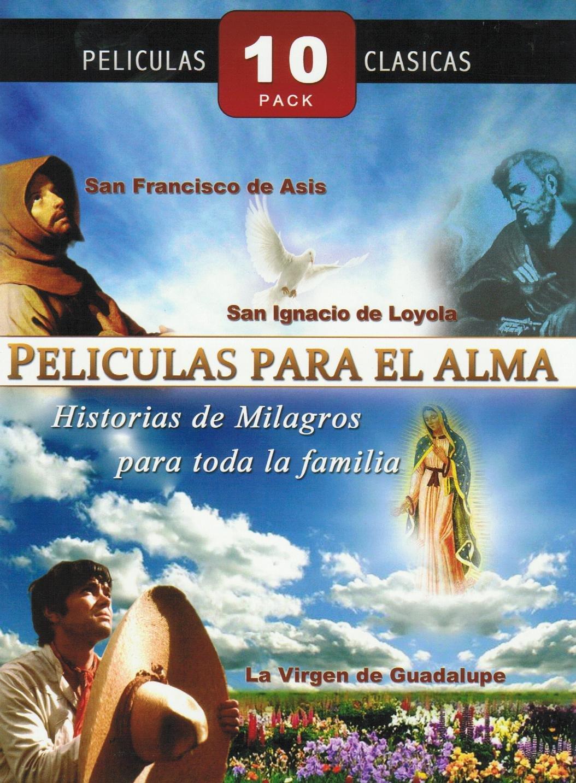 PELICULAS PARA EL ALMA 10 PACK:EL NINO Y LA ESTRELLA/ROSAS BLANCA PARA MI HERMANA NEGRA/JESUS MARIA Y JOSE/SAN FRANCISCO DE ASIS/UNA MAESTRA INOLVIDABLE/EL PECADO DE ADAN Y EVA/JESUS EL NINO DIOS/LA VIRGEN