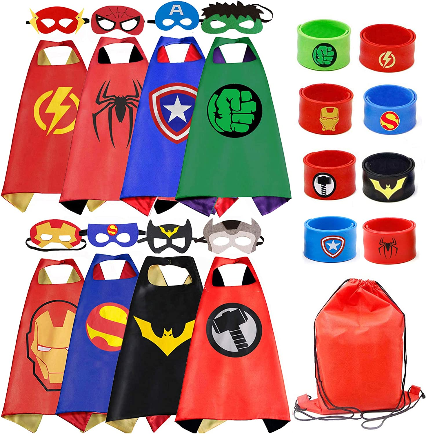 Opromo Adult Kid Superhero Cape Satin 4 Size 10 Color for Dress Up Party Costume