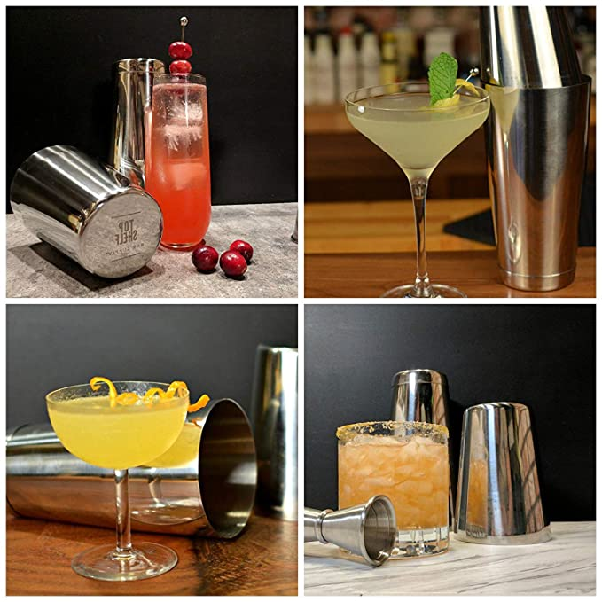 Favson Boston Shaker de acero inoxidable: 2 piezas Set: 20 oz sin peso y 26 oz barman profesional con peso coctelera: Amazon.es: Hogar