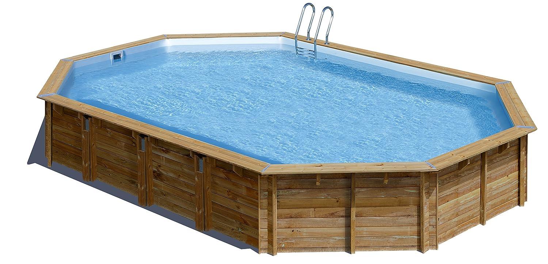 Piscina de madera GRE ovalada Avila Wooden Pool GRE 790092: Amazon.es: Juguetes y juegos
