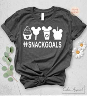 e08d818ae Snackgoals Unisex T-Shirt Disney inspired Shirts Cute Tops Novelty Love  Christmas Gift