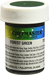 Chefmaster Gel Food Color, 1-Ounce, Forest Green