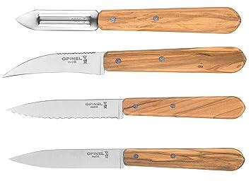 Amazon.com: Opinel Essentials – Juego de cuchillos de cocina ...