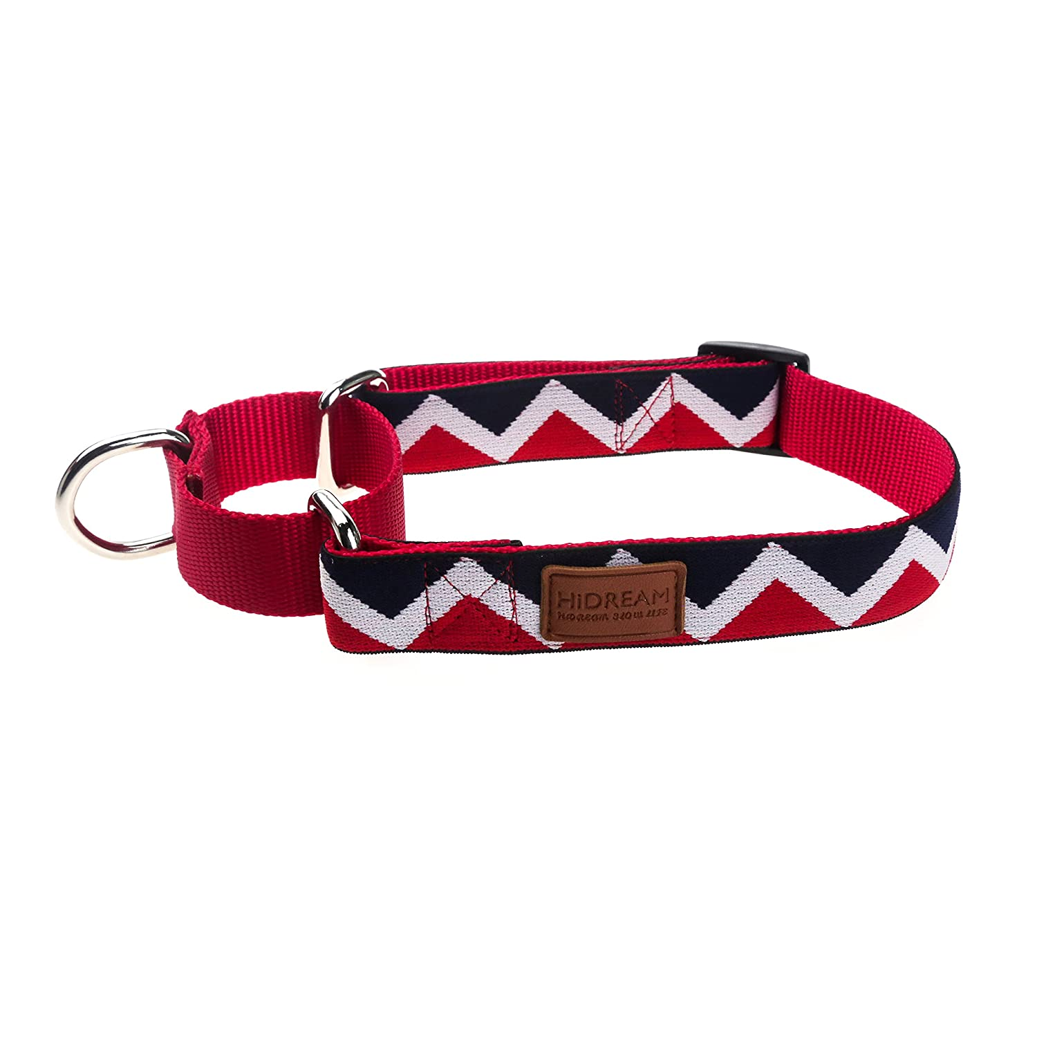 Red M Red M HiDREAM Double-color Buffering Dog Collar (M, Red)