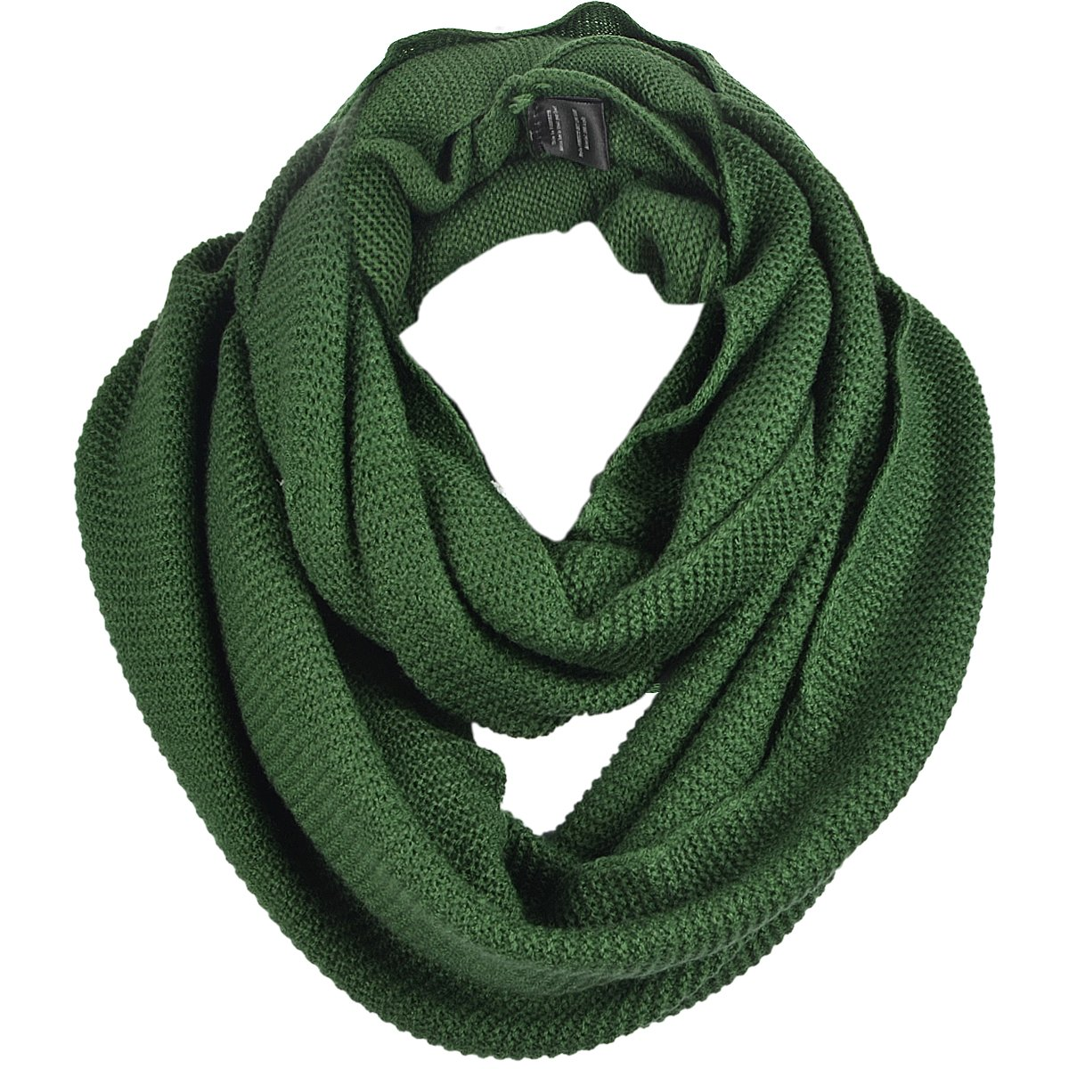 FORBUSITE Knit Winter Infinity Scarf for Men E5081b (Dark Grey) B5081b-C-DGY