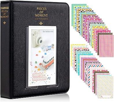 8 7s 25 26 50s 70 90 Blue CELION 128 Pockets Photo Album for Fujifilm Instax Mini 11 9 8