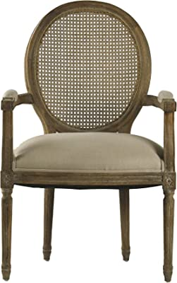 Amazon Com Powell Leopard Oval Back Accent Chair 18 3 4