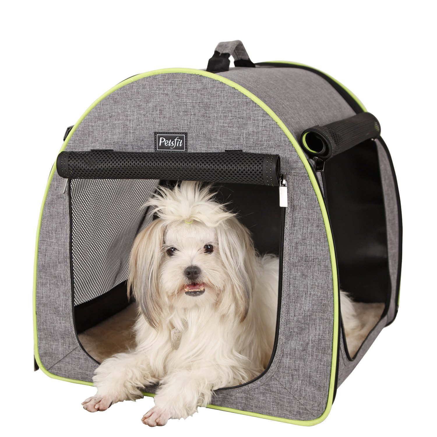 Petsfit 20''X19''X20(LxWxH) Inches Soft Portable Dog Crate/Cat Crate/Foldable Pet Kennel/Indoor Outdoor Pet Home by Petsfit