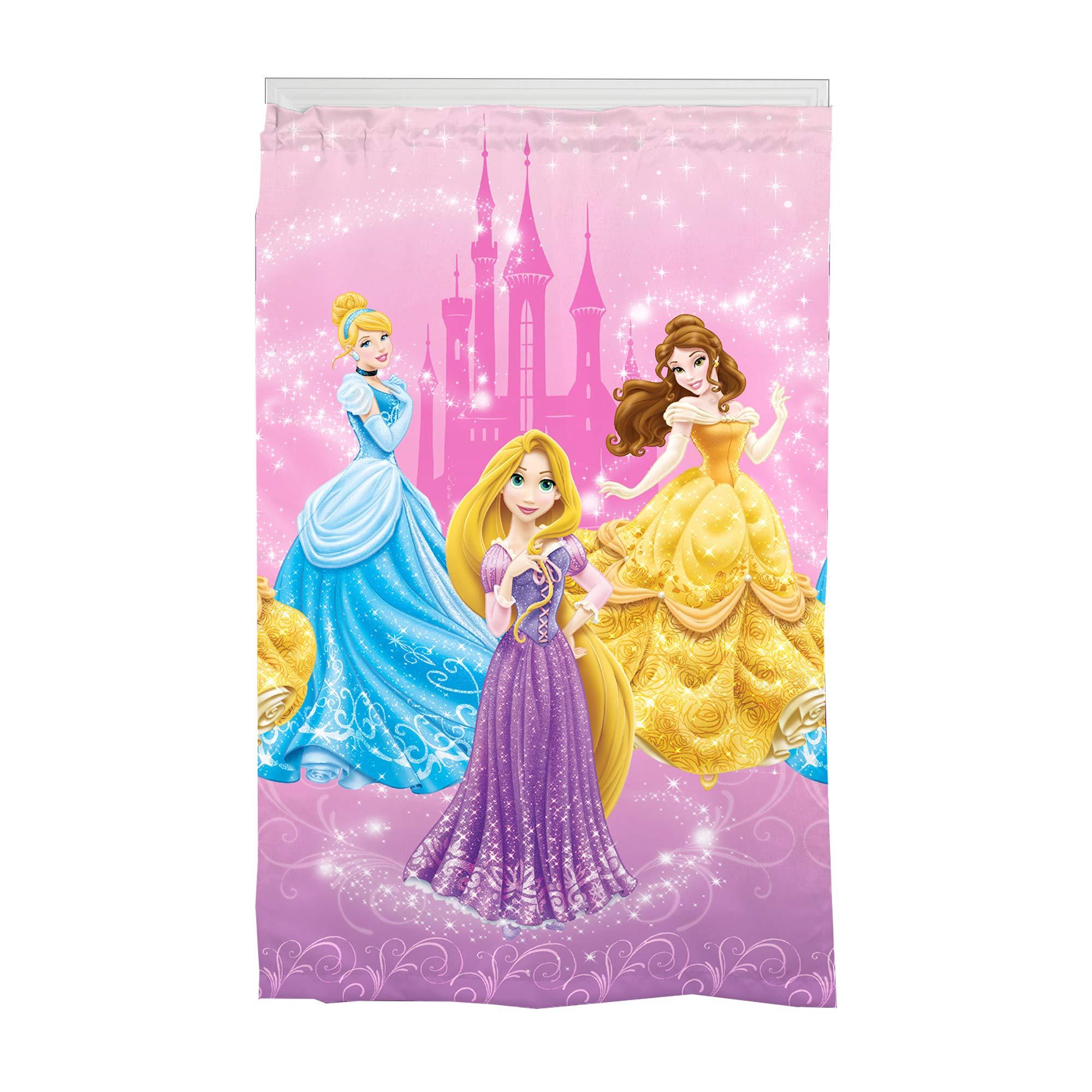 Disney Princess Kids Room Darkening Window Curtain Panel 42'' x 63'' Pink
