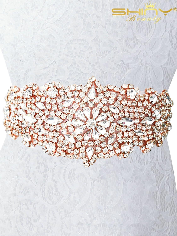 shinybeauty bridal sash gold bridal sash pearl bridal sash for bridal shower ra124