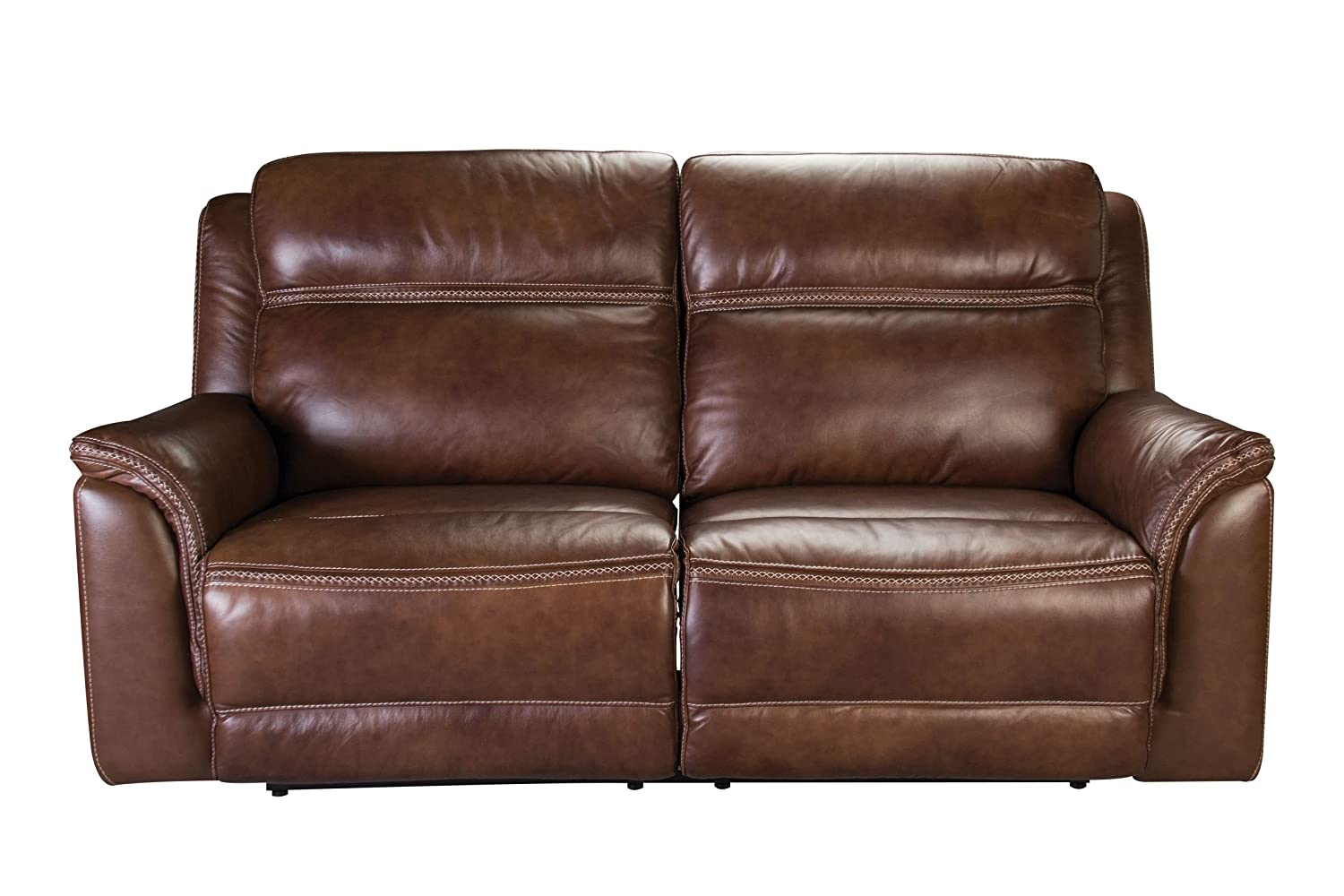 Amazon.com: Fargo Leather Power Reclining Sofa: Kitchen & Dining