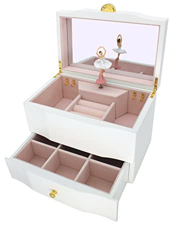 Amazoncom Attii Ballerina Jewelry Box Wooden Music Box for Girls