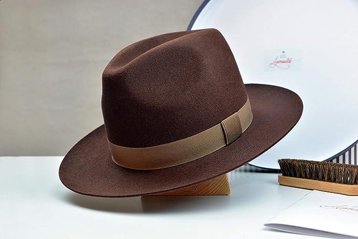Amazon.com  The Banjo - Rabbit Fur Felt Handmade Fedora Hat - Wide Brim -  Men Women  Handmade 35a4cccf199f