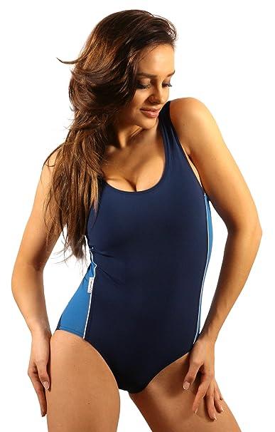 vollständige Palette von Spezifikationen stylistisches Aussehen große Vielfalt Stile Stanteks Damen Badeanzug Klassischer Schwimmanzug mit Schwimmerrücken SK0020