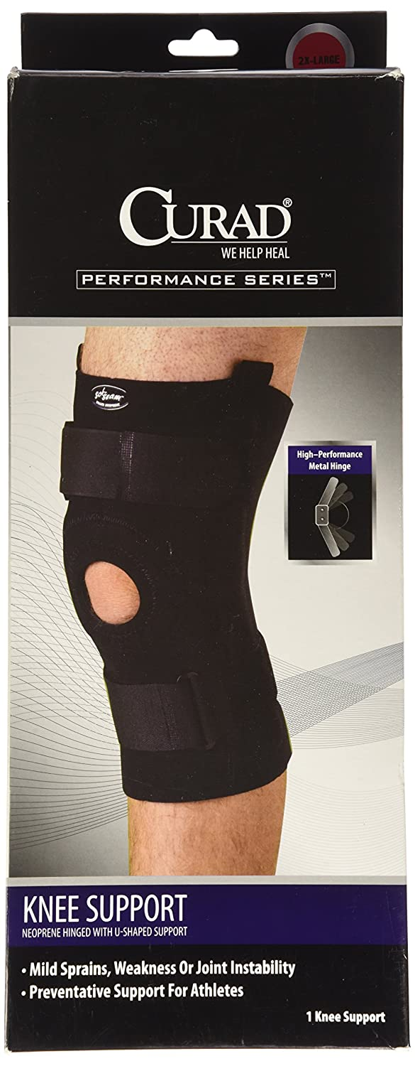 f944e03dc4 Amazon.com: Curad Hinged U-Shaped Knee Support, XX-Large: Health & Personal  Care