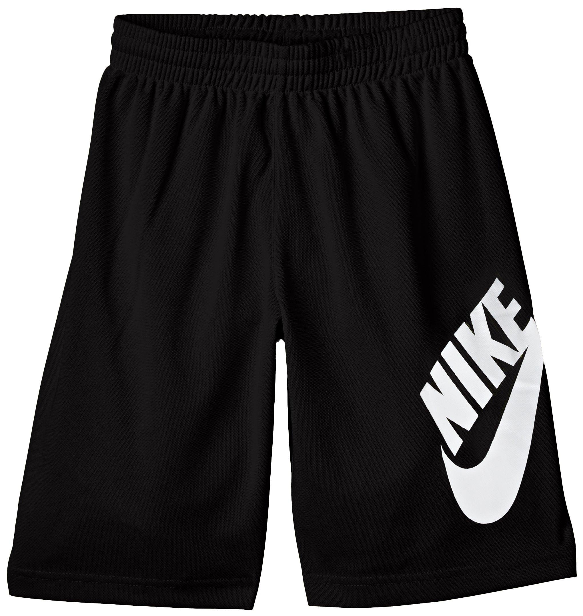 Boys Youth Nike SB Logo Dri Fit Shorts (M (10-12 Years), Black/White) by NIKE