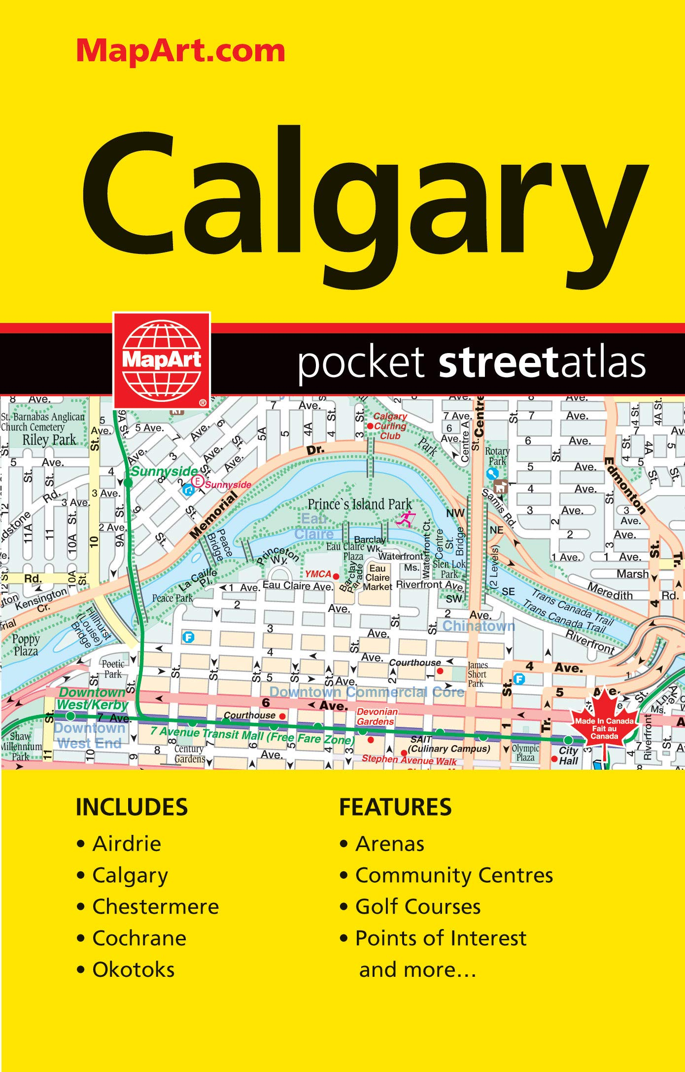 Calgary On Map Of Canada.Calgary Ab Pocket Street Atlas Canadian Cartographics Corporation