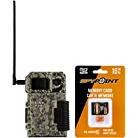SPYPOINT Link Micro with 16GB MicroSD (Smallest on The Market!) Wireless/Cell Trail Camera, 4 Power LEDs, Fast 4G Photo Transmission w/Preactivated SIM, Fully Configurable via App