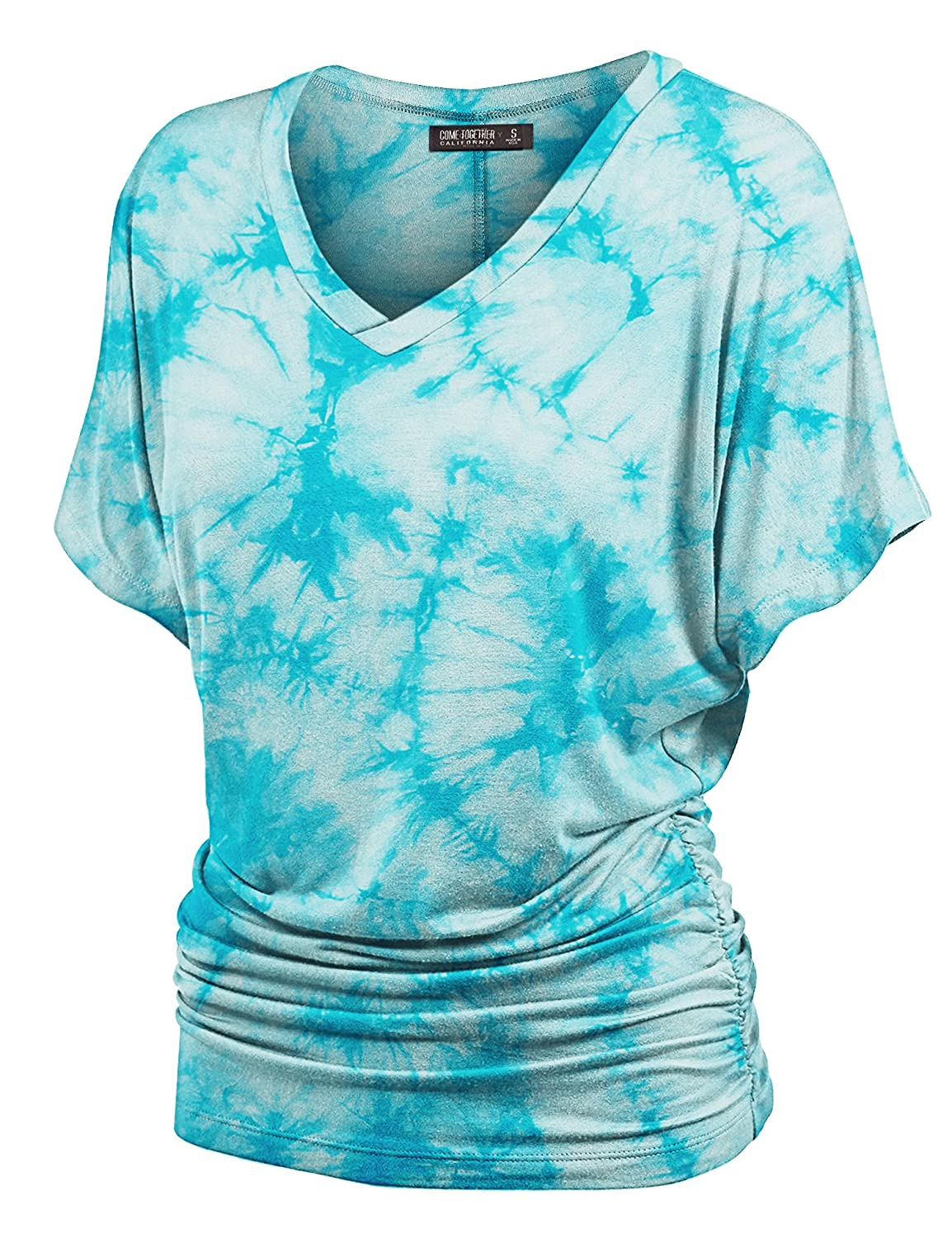 320ab3033ff Made in U.S.A.    BEWARE OF IMITATION    Please make sure when you checkout  it s fulfilled by LOCK AND LOVE Tie dye and ombre dolman shirt   Boat  neckline ...