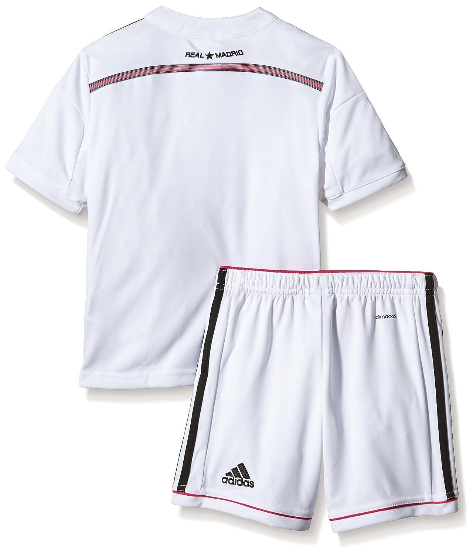 Conjunto para ni/ños unisex adidas Real H Smu Mini blanco//negro