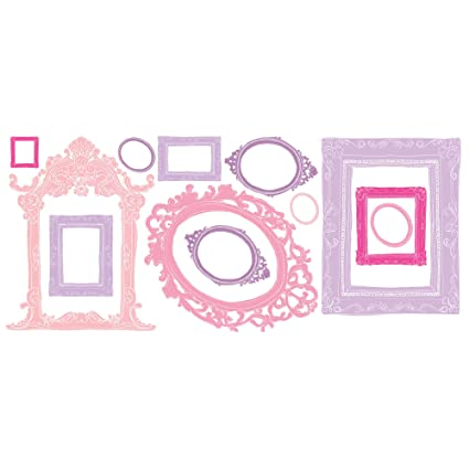 Amazon.com: RoomMates RMK2043GM Pink and Purple Frames Peel and ...