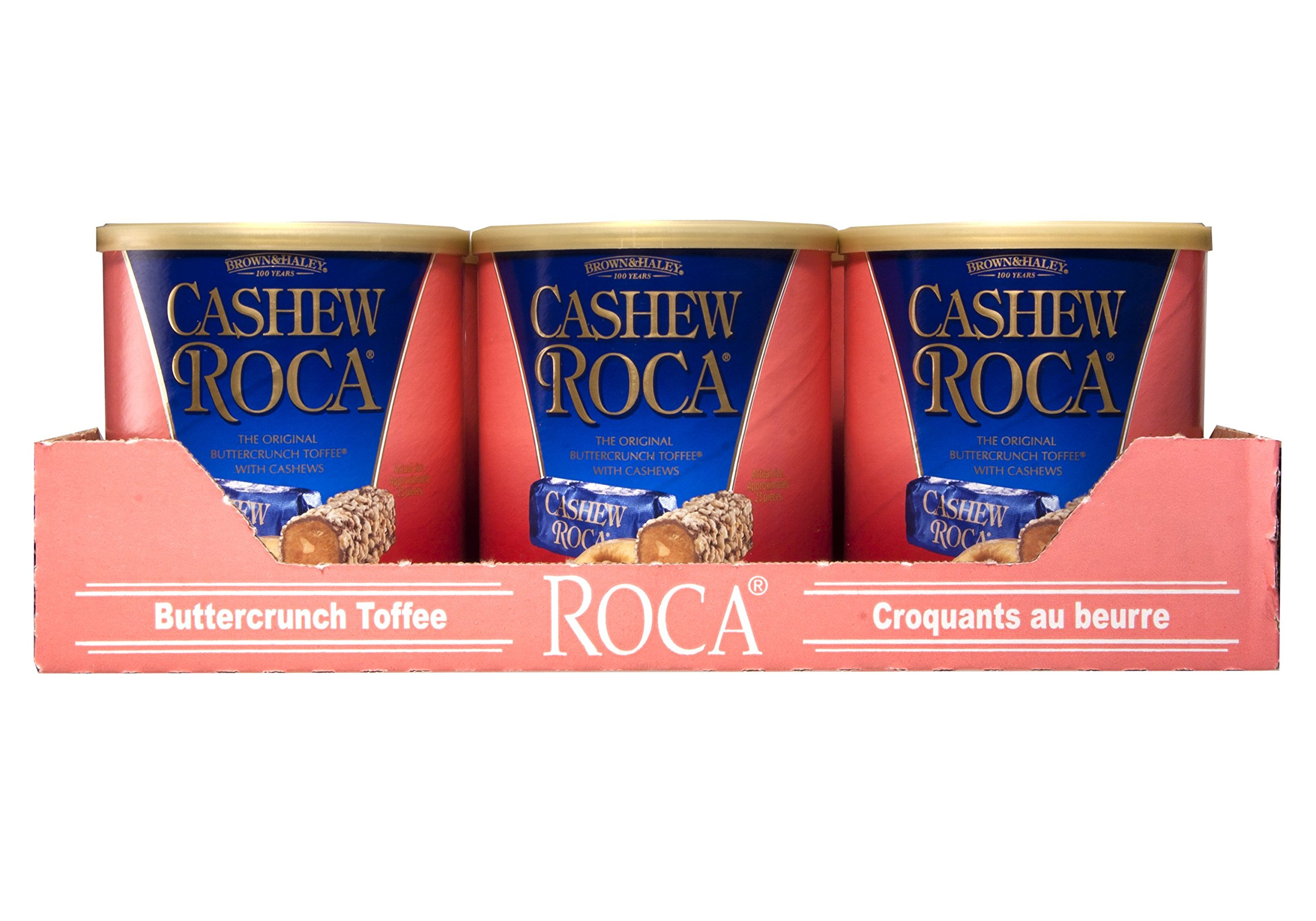 10 oz CASHEW ROCA Canister - Case of 9 Canisters by Roca