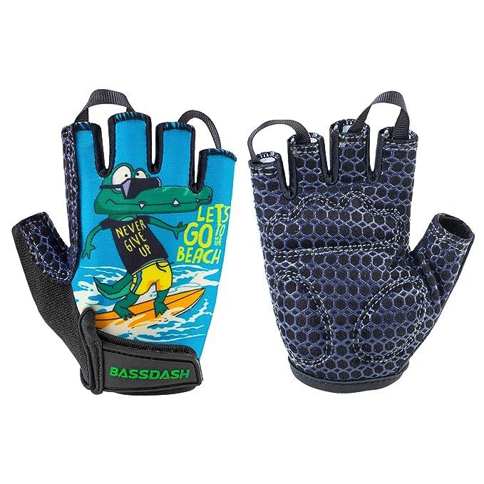 Amazon.com: Bassdash UPF 50+ - Guantes para niños con palma ...