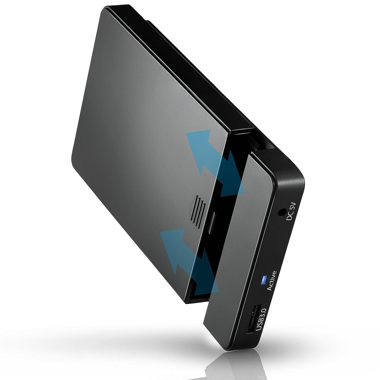 CSL - UASP y SATA3 USB 3,0 6,35 cm externo disco duro | Por 9,5 mm 7 mm SATA I/II/III, SSD, HDD | USB 3,0 (5 Gbit/s) incl. Modo UASP (USB 3,0 Booster) ...
