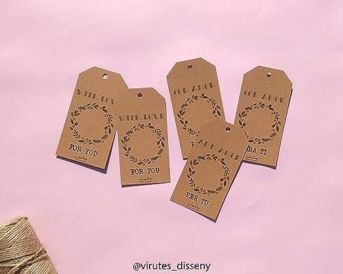 Set de 6 tarjetas para los regalos // Etiquetas de Navidad ...