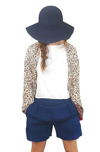 Chaqueta Kimono Charline 100% francés fleuri 44: Amazon.es ...
