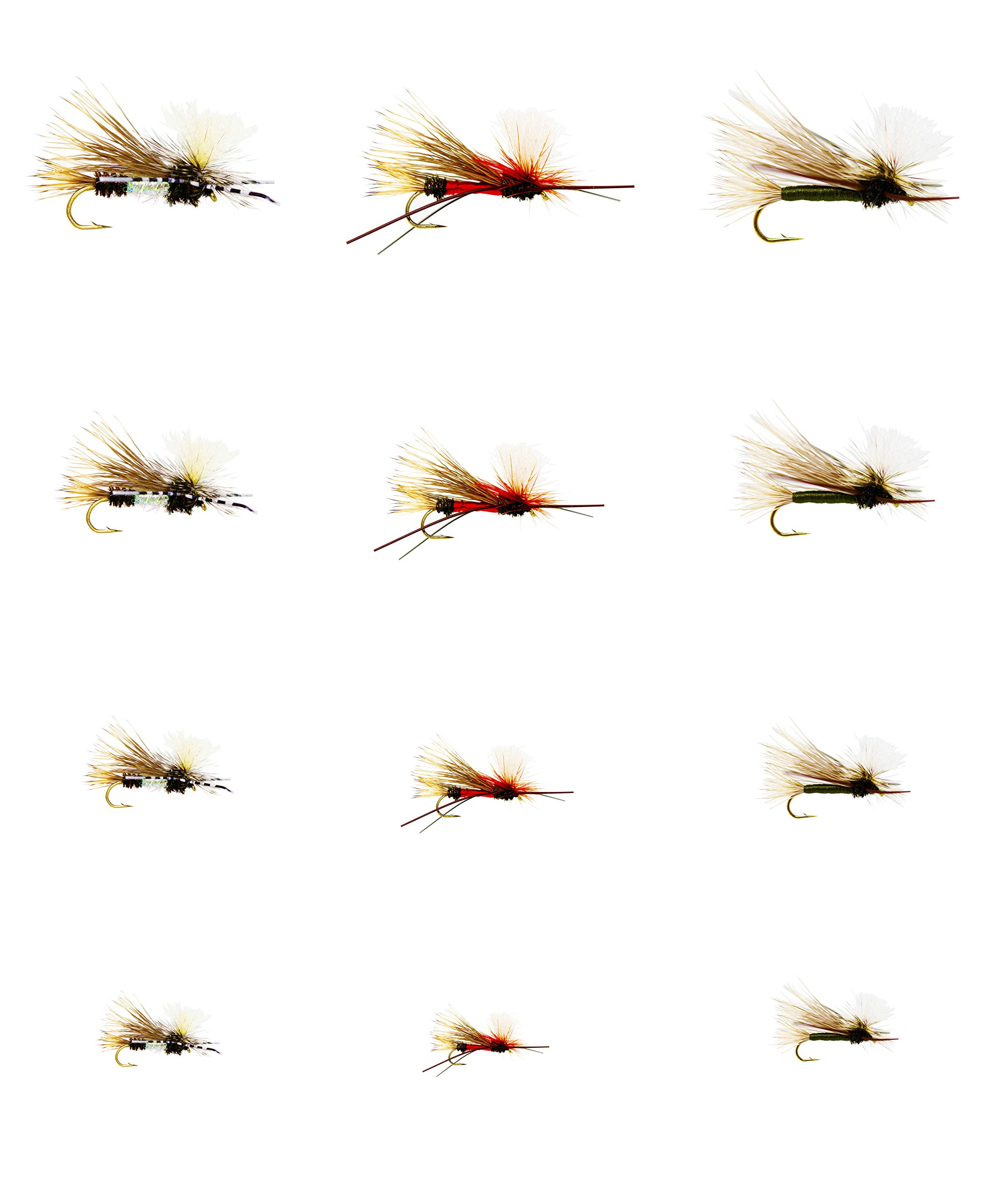 Outdoor Planet 12 PMX/Parachute Madame X Dry Fly for Trout Fly Fishing Flies Lure Assortment by Outdoor Planet