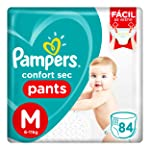 Fralda Pampers Confort Sec Pants Super, M, 84 Unidades
