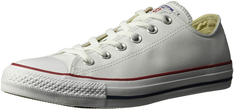 Converse Chuck Taylor Core Lea Ox, Zapatillas de Cuero Unisex 43 EU|Blanco