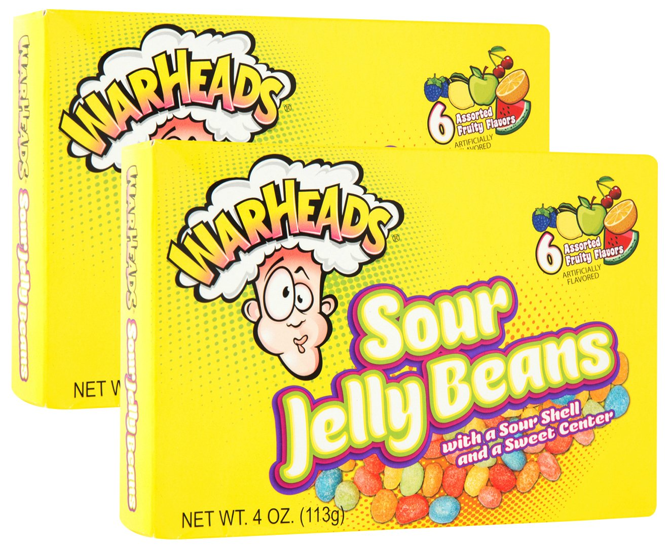 Warheads Sour Jelly Beans 4 Oz (113G)