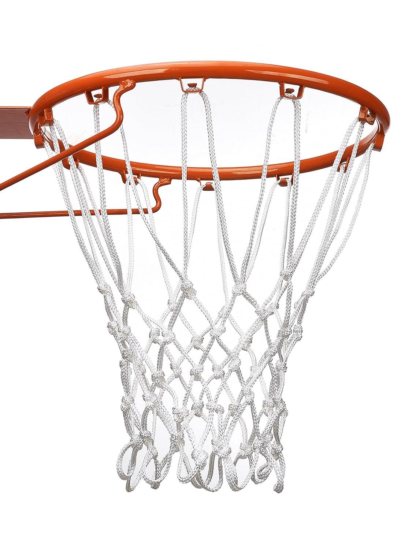 12 Loop Schwer Last Basketball Netz Basketballnetz Passt Standard Indoor oder Outdoor Basketball Hoop (Weiß) BBTO