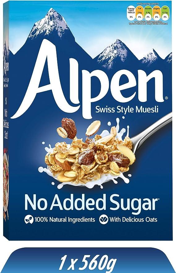 Weetabix Alpen Cereales sin azúcar 560 g, 1er Pack (1 x 560 g): Amazon.es: Alimentación y bebidas