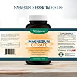 Magnesium Citrate – Magnesium citrate capsules 400mg – Pure Magnesium Supplement 100% – Non-GMO – Made in the USA – 180 capsules