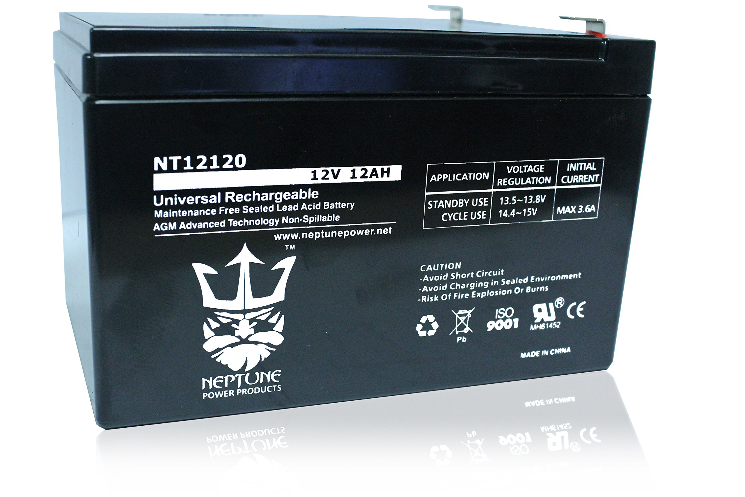 Neptune Power NT1212 F2, Replacement for ExpertPower EXP1212 12V12AH Rechargeable Battery