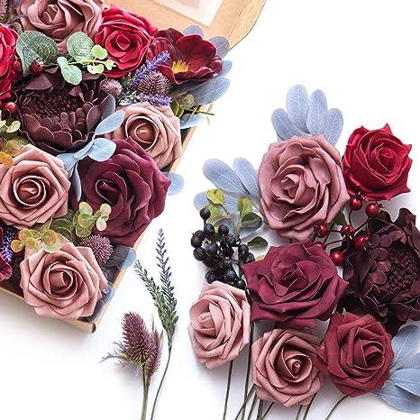Wreath filler Wedding greenery Succulent wreath Burgundy greenery Faux flowers Artificial succulent Fake plants