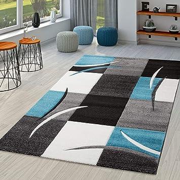 TT Home Tapis Salon Moderne Nice avec Contours découpés Gris ...