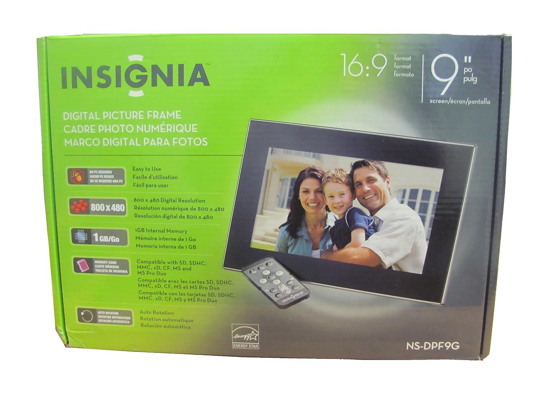 Amazon.com : Insignia NS-DPF9G 9-Inch Digital Picture Frame, 1GB ...