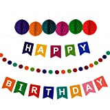 amazon com happy birthday banner birthday decorations premium