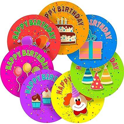 Feliz cumpleaños pegatinas de recompensa pegatinas de ...