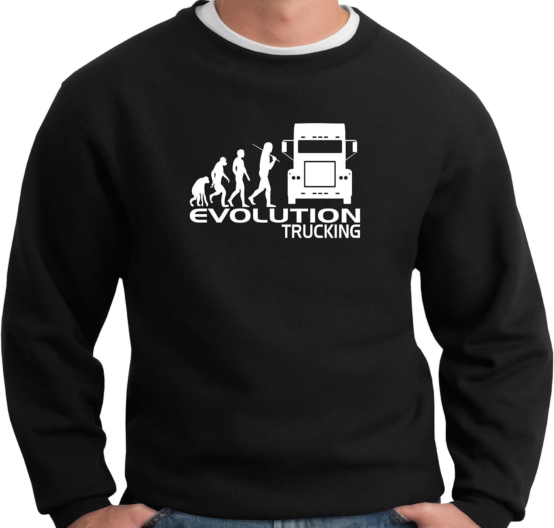 lingua italiana non garantita idea regalo per un camionista Maglietta da uomo con scritta Evolution Trucking regalo di Natale o compleanno