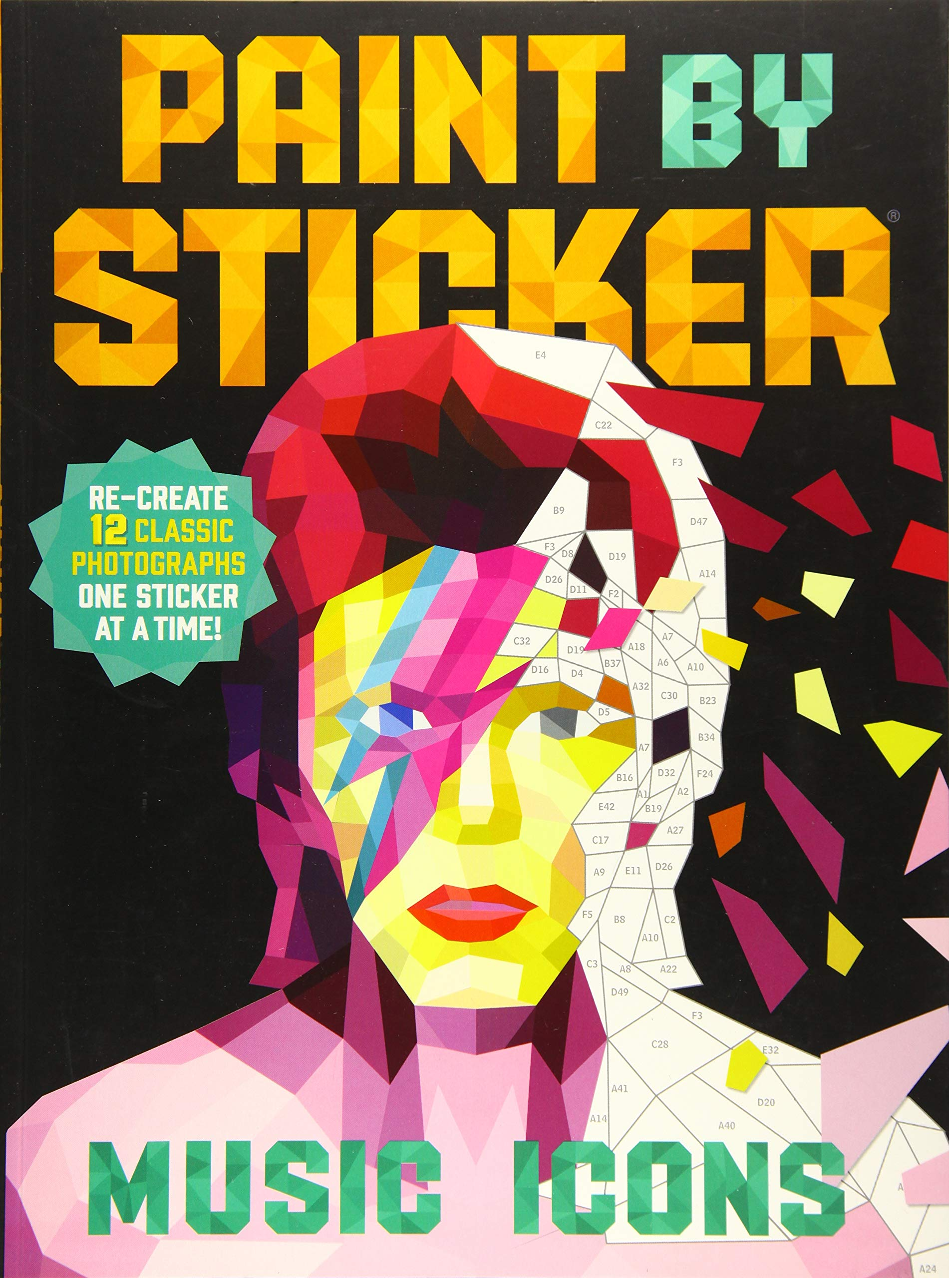 Paint By Sticker  Music Icons  Re Create 12 Classic Photographs One Sticker At A Time