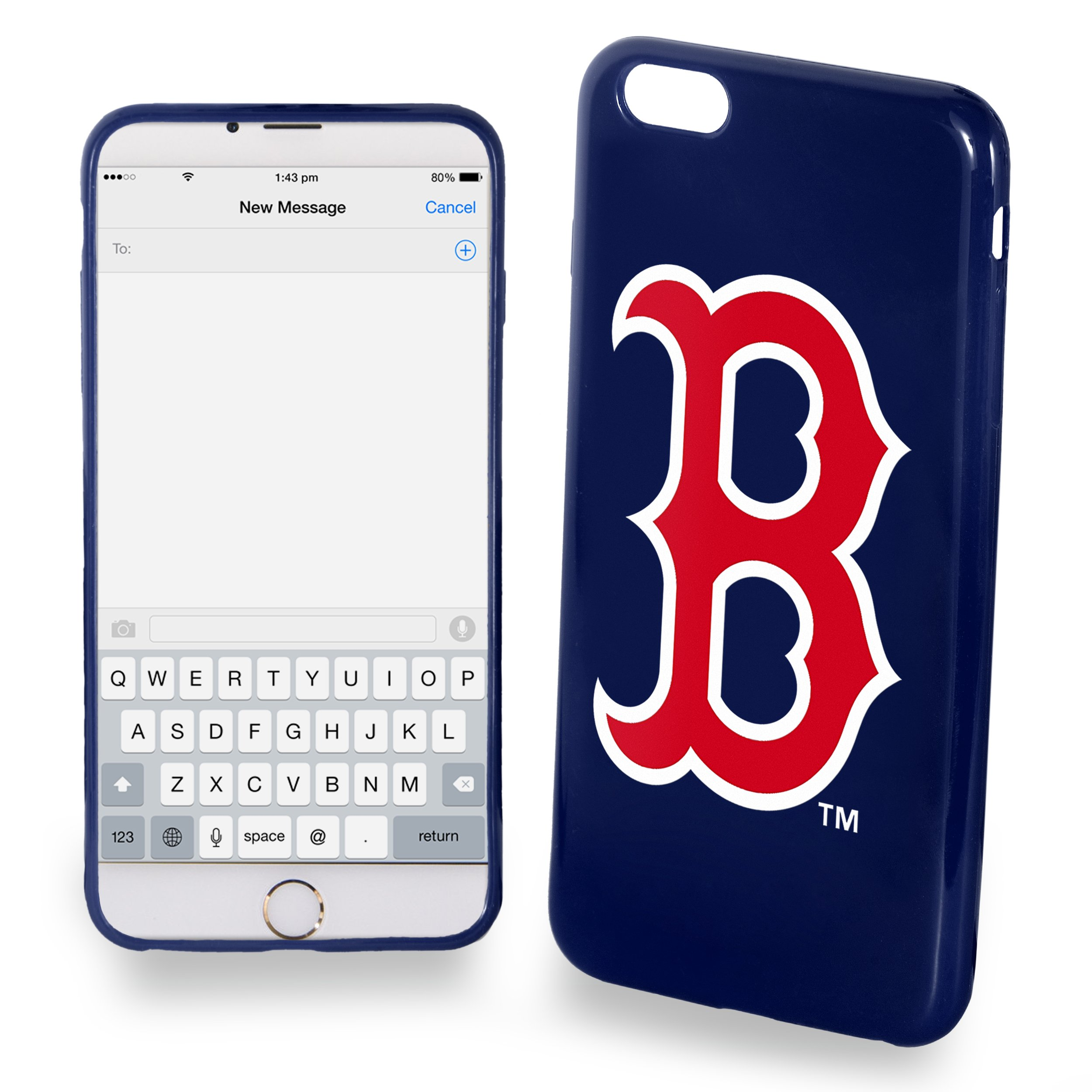 Boston Red Sox Solid Ai7+/8+ Cover - Tpu - Plus
