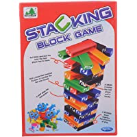 Comdaq Stacking Multicolour Plastic Block Game (Age 6+)