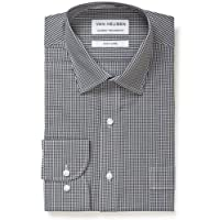Van Heusen Men's Classic Relaxed Fit Mini Check Shirt