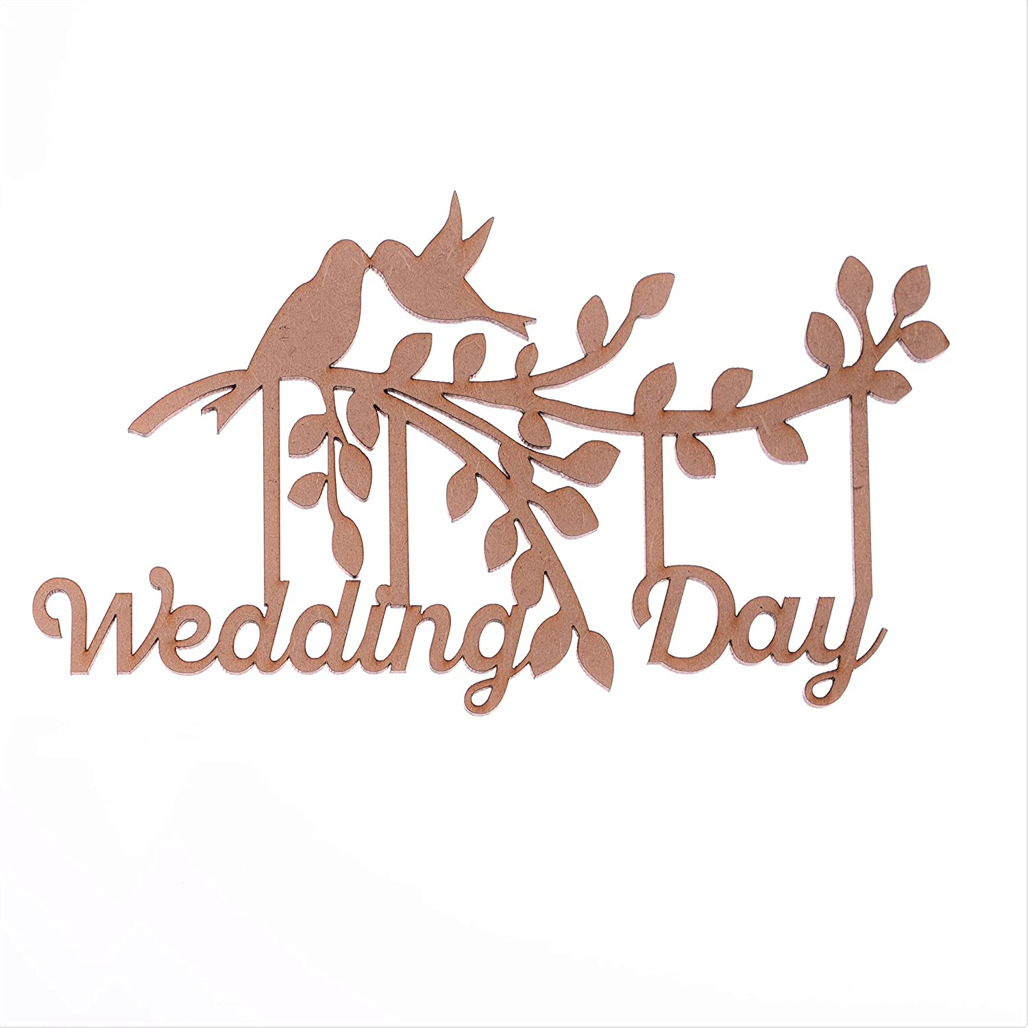 Ambrosia Crafts Wedding Day Branch, Wooden MDF Branch Shape - Wedding Day, Family Tree Branch, Wedding Day' Wedding Day'