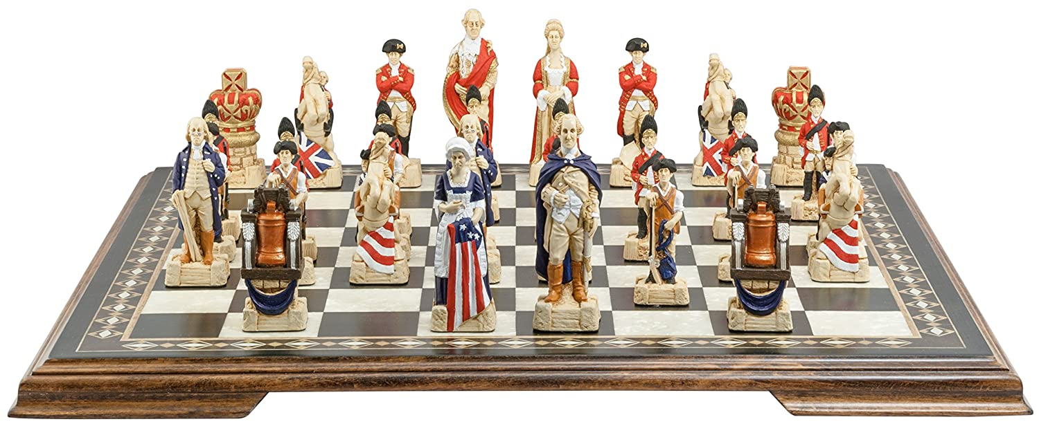 Amazon.com: American Revolutionary War Chess Set   Handmade And Hand  Painted   4.25 Inches: Toys U0026 Games